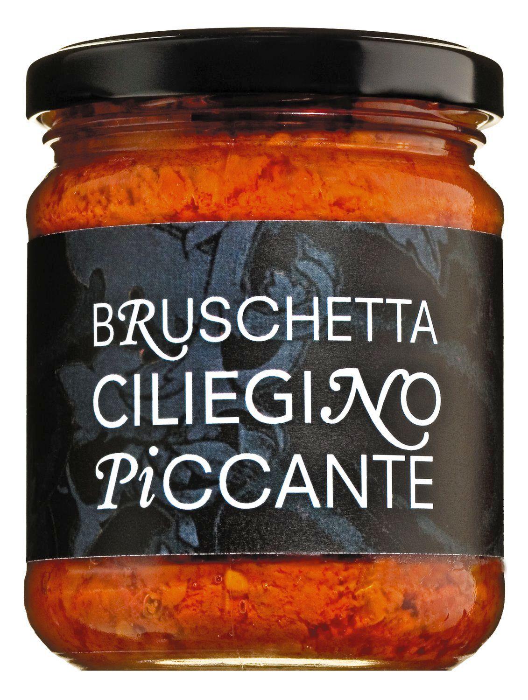 Bruschetta Ciliegino Piccante - Bruscetta aus Kirschtomaten, pikant 200g - Il Pomodoro Piu Buono, Italien