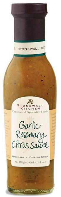 Garlic Rosemary Citrus Sauce - BBQ-Sauce 330ml - Stonewall Kitchen, USA