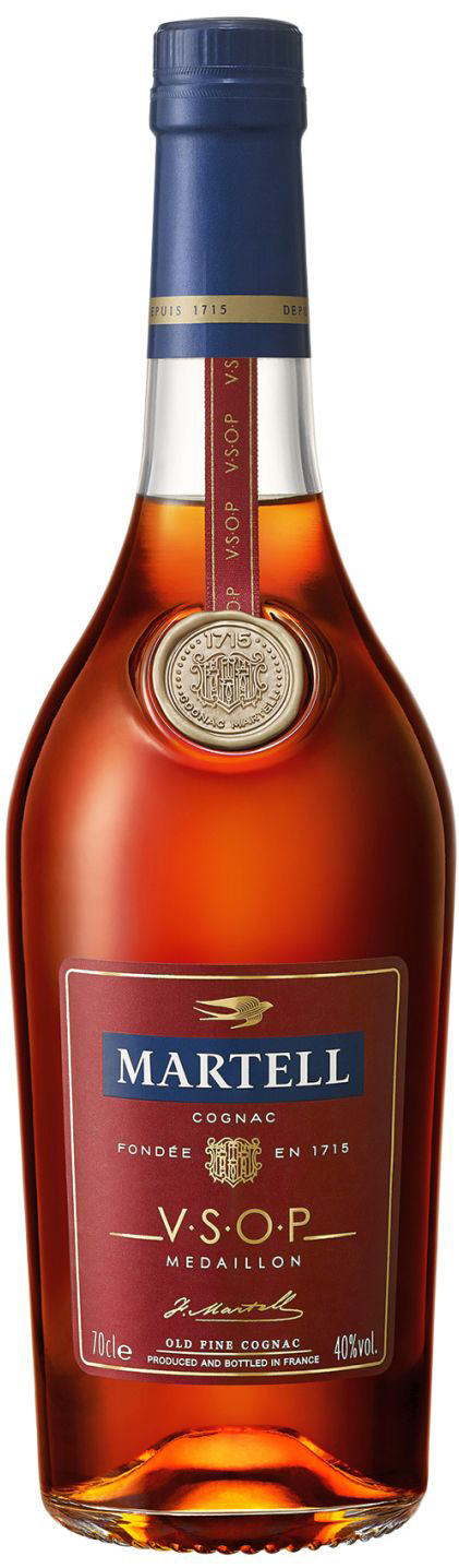 Cognac Martell VSOP - Red Barrels - 40% Vol.  0,70 l
