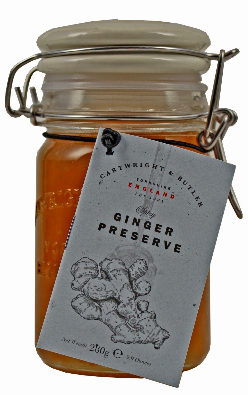 Ginger Preserve - Eingemachte Ingwerzubereitung 280g - Cartwright & Butler, East Yorkshire