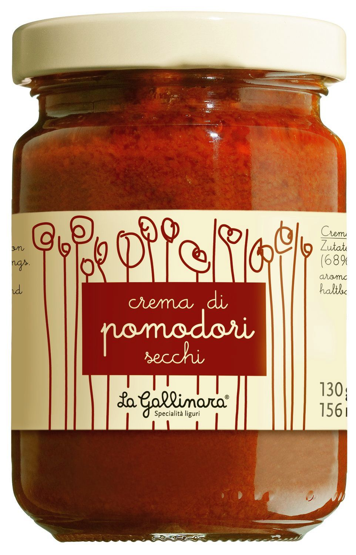 Crema di Pomodori secchi - Creme von getrockneten Tomaten 130g - La Gallinara, Ligurien