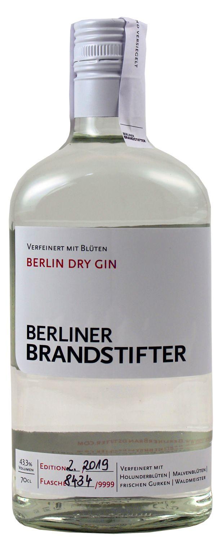 Berliner Brandstifter - Berlin Dry Gin - 43,3% Vol. 0,70 l