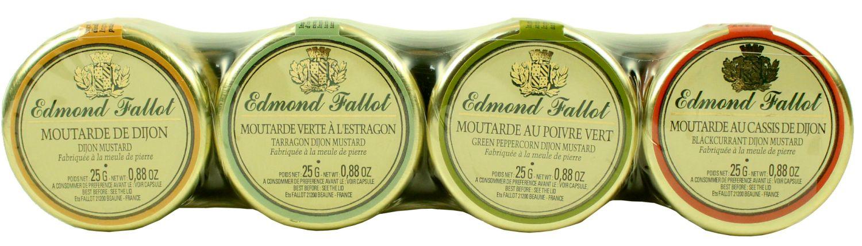 Dijonsenf - Probierset 4x 25g - Edmond Fallot