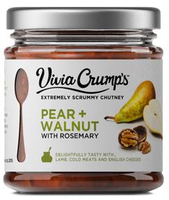 Chutney - Birne Walnuss Rosmarin Chutney 200g - Vivia Crumps, England