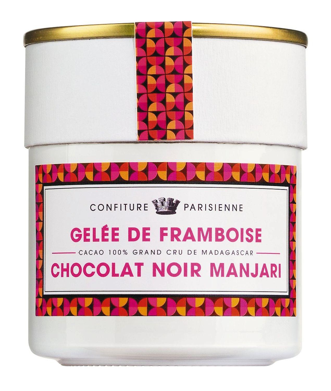 Gelee de Framboise et Chocolat Noir - Konfit. Himbeer u. Zartbittersch. 250g - Confiture Parisienne