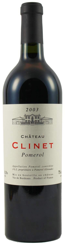 2003er Chateau Clinet - Pomerol AC 0,75 l