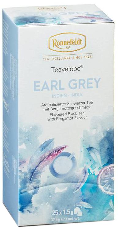 Earl Grey Teavelope - schwarzer Tee in Teebeuteln - Ronnefeldt  25 x 1,5g