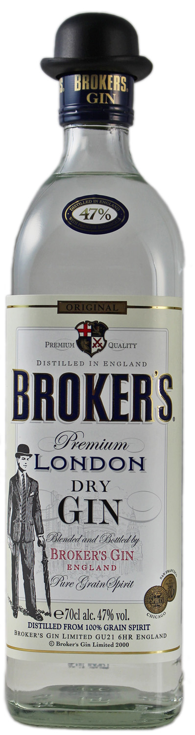 Brokers Dry Gin - England - 47% Vol.  0,70 l