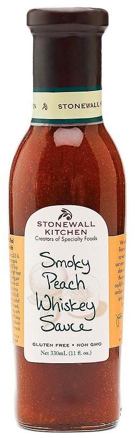 Smokey Peach Whiskey Sauce - BBQ-Sauce 330ml - Stonewall Kitchen, USA
