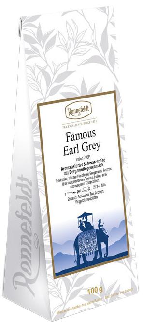 Famous Earl Grey - aromatisierter schwarzer Tee - Ronnefeldt 100g