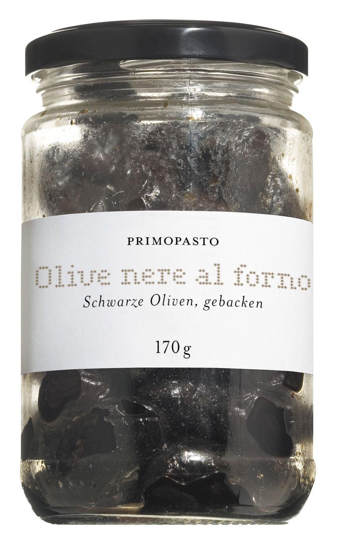 Olive nere al forno - Schwarze Oliven 170g - Primopasto