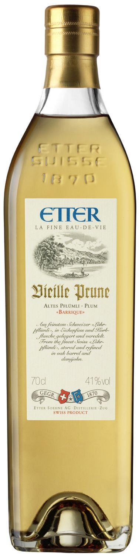 Vieille Prune Barrique - Etter Schweiz - 41% Vol.  0,70 l