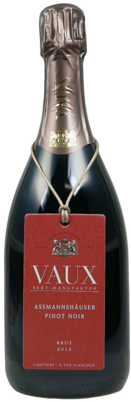 Assmannshäuser Pinot Noir - Klassische Flaschengärung 0,75l - Schloss Vaux Sekt Manufaktur, Eltville