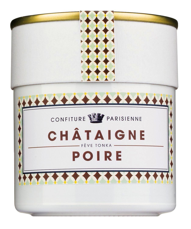 Chataigne et Poire - Konfitüre mit Kastanien u. Birnen 250g - Confiture Parisienne
