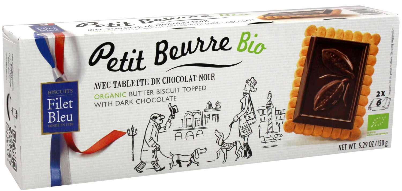 Butterkeks - mit Zartbitterschokolade 150g - Biscuits Filet Bleue, Bretagne