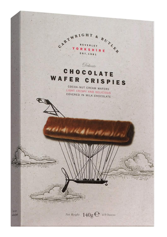 Chocolate Wafer Crispies - Knusprige Schokoladenwaffeln 140g - Cartwright & Butler, East Yorkshire