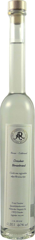 Dresdner Birnenbrand - Augustus Rex  40% Vol.  0,35 l - Erste Dresdner Spezialitätenbr.