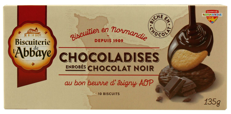 Chocoladises - Butterkeks im Schokomantel 135g - Biscuiterie de lAbbaye