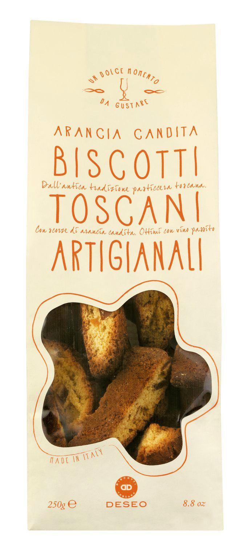 Biscotti Arancia Toscani - Biscotti mit kand. Orangenschalen 250g - Deseo