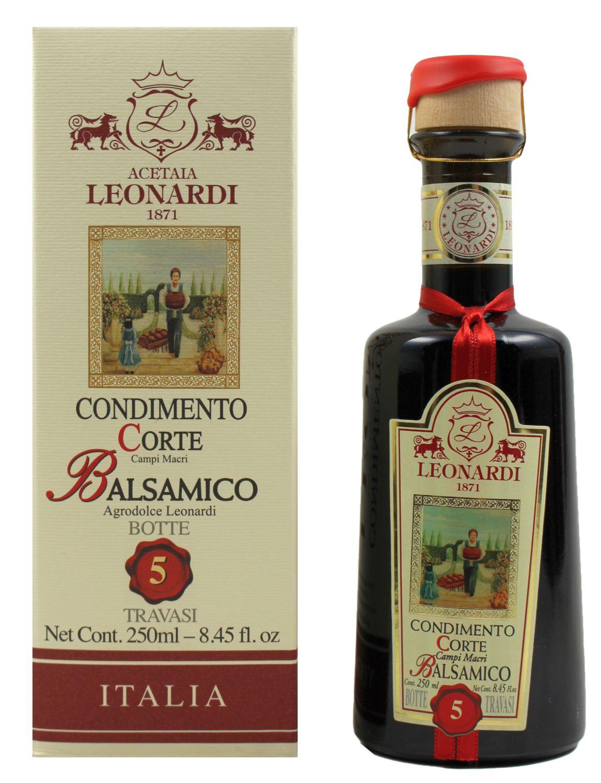 Balsamico Leonardi Corte - 5 Jahre gereift, 250ml - Leonardi, Italien