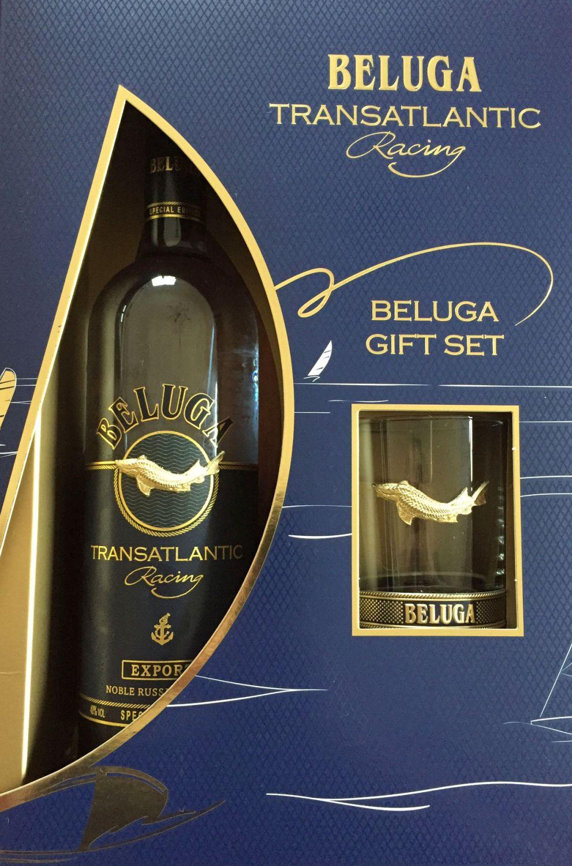 Beluga Transatlantic Vodka - im Set mit Glas - 40% Vol.  0,70 l Russland