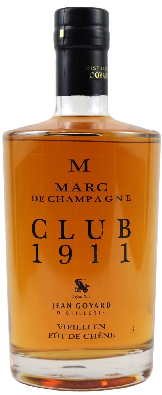 """Marc de Champagne - Egrappe """"Tres Vieux"""" - Jean Goyard 40% 0,70 l"""