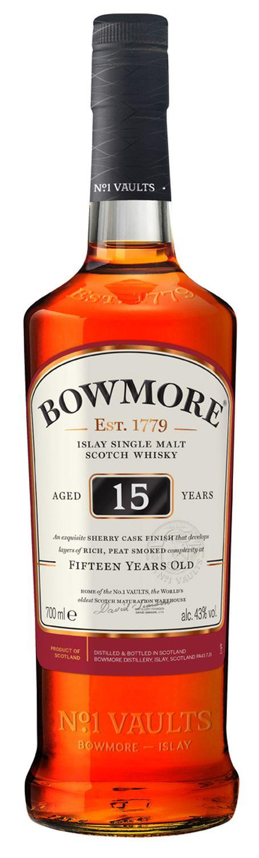 Bowmore 15 Jahre - Single Islay Malt - 43% Vol.  0,70 l