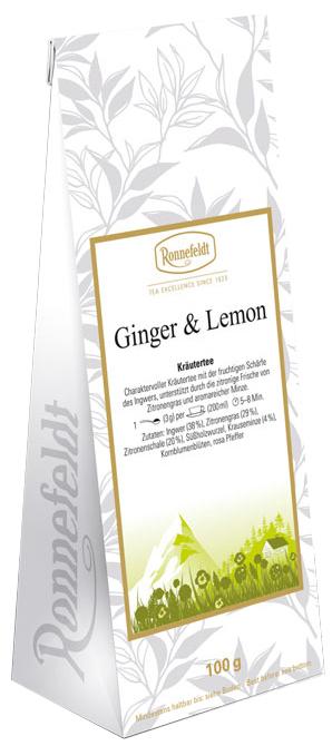 Ginger & Lemon - Kräutertee - Ronnefeldt 100g