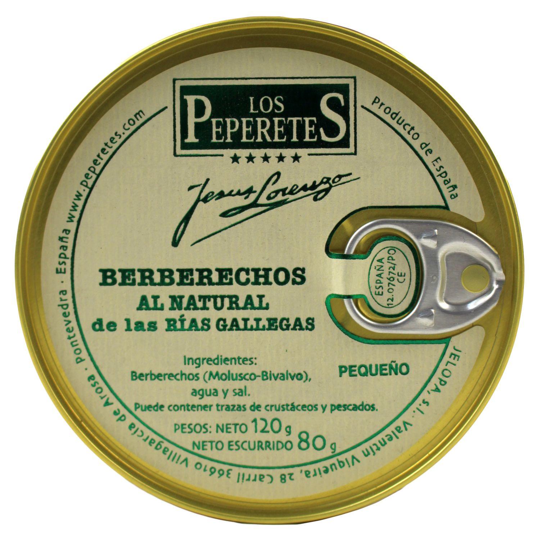Berberechos al Natural - Venusmuscheln, 120g - Peperetes Jes·s Lorenzo, Spanien