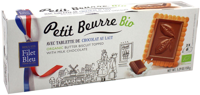 Butterkeks - mit Vollmilchschokolade 150g - Biscuits Filet Bleue, Bretagne