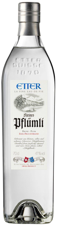 Kleines Pflümli Löhrpflaume - Etter Schweiz - 41% Vol.  0,70 l