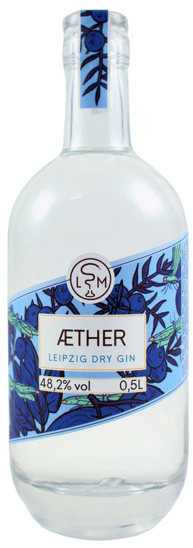 Aether Leipzig Dry Gin - 48,2% Vol  0,50 l - Leipziger Spirituosen Manufaktur