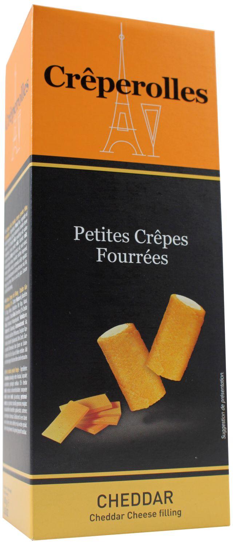 Creperolles Cheddar - Waffelröllchen mit Cheddar 100g - TraouMad, Frankreich