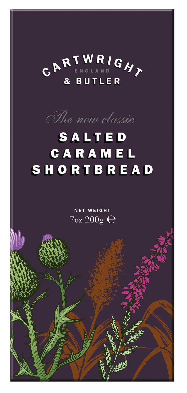 Salted Caramel Shortbread - Gebäck mit gesalzenem Karamell 200g - Cartwright & Butler, East Yorkshire