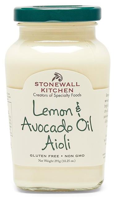 Lemon Avocado Oil Aioli - Aioli Creme 291g - Stonewall Kitchen, USA