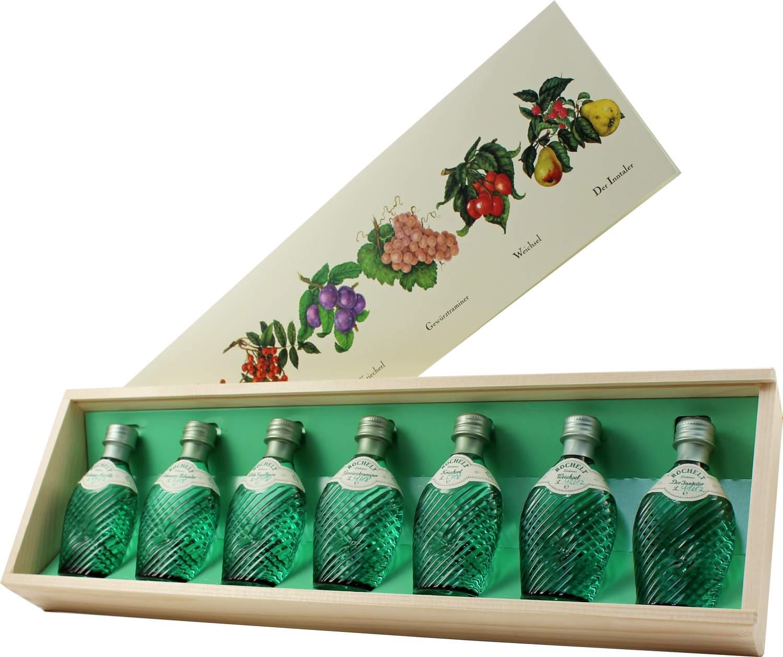Rochelt Miniaturenset mit 7 x 0,04 l - mit Jahrgang 50% Vol. - Brennerei Rochelt, Österreich
