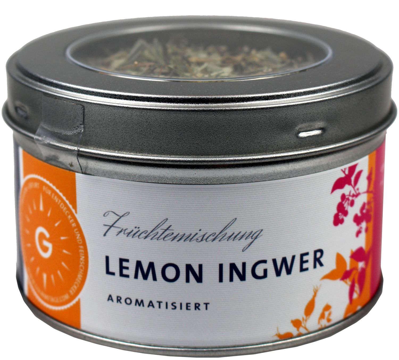 Lemon Ingwer - aromatisierter Kräuter-Früchtetee 100g - Gourmetage Finest Selection