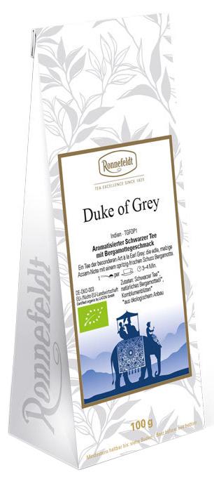 Duke of Grey Bio Tee - aromatisierter schwarzer Tee - Ronnefeldt 100g