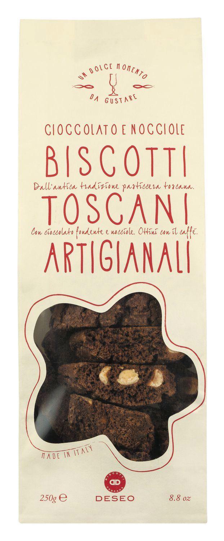 Biscotti Chocolate Toscani - Biscotti mit dunkler Schokolade 250g - Deseo