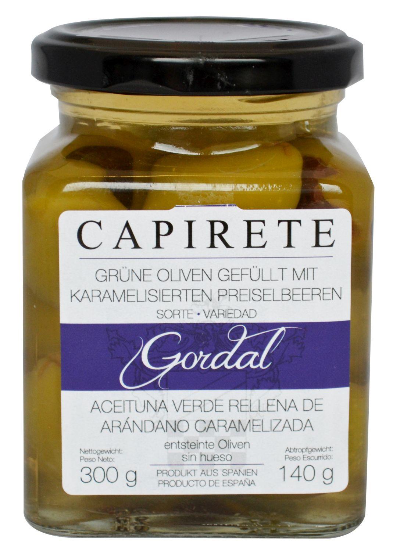 Grüne Oliven Preiselbeere - karamellisierten Preiselbeeren - Capirete, Jerez de la Frontera 300g