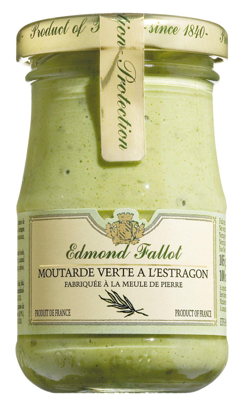 Moutarde verte a la estragon - Dijonsenf mit Estragon 100ml - Edmond Fallot