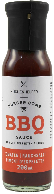 Burger Bomb BBQ Sauce - Rauchsalz Piment DEspelette 200ml - Bremer Feinkost