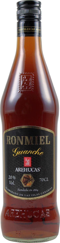 Arehucas Ron Miel - Honig Rum - Kanarische Inseln - 20%  0,70 l