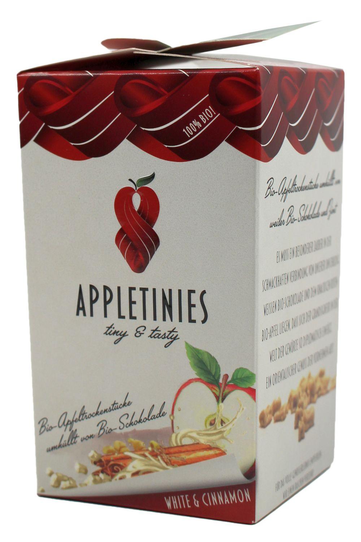 Appletinies weiße Schokol. mit Zimt - Weiße Schokol. mit Zimt 85g - 3fruits & friends, Österreich