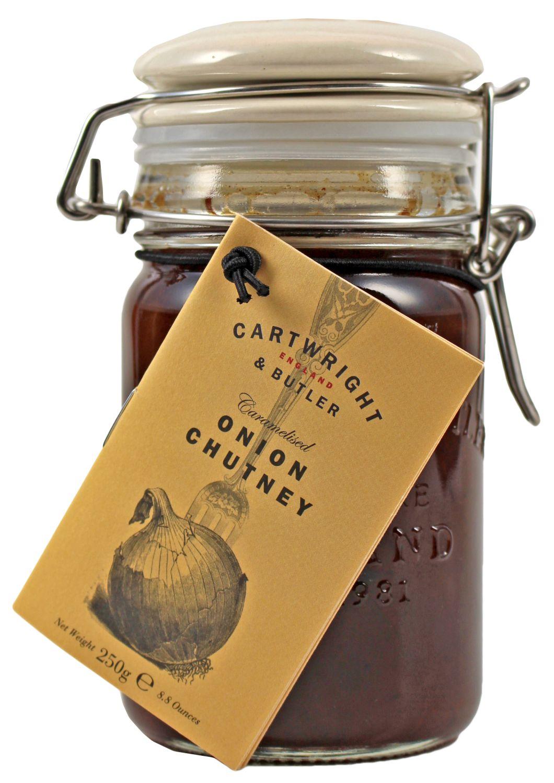 Caramelised Onion Chutney - Karamellisiertes Zwiebelchutney 250g - Cartwright & Butler, East Yorkshire