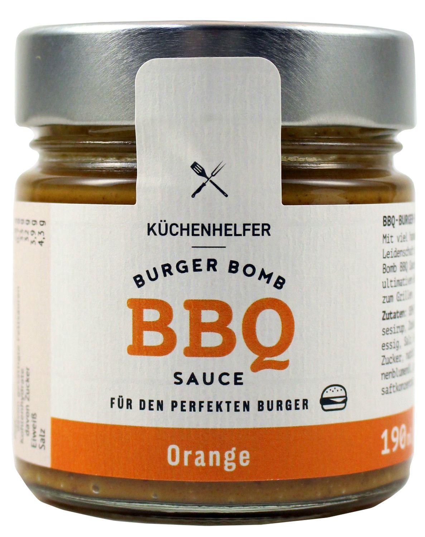 BBQ Sauce Orange - Burger Bomb Sauce mit Orange 190ml - Küchenhelfer