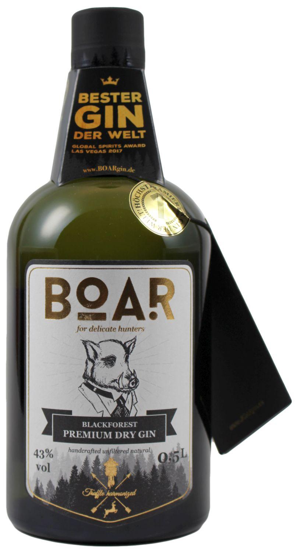 Boar Gin - Blackforest Premium Dry Gin - 43% Vol.  0,50 l
