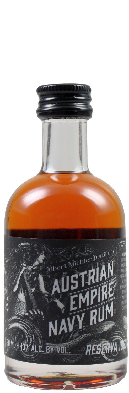 Austrian Empire - Navy Rum Reserva 1863 - 40% Vol.  0,05 l